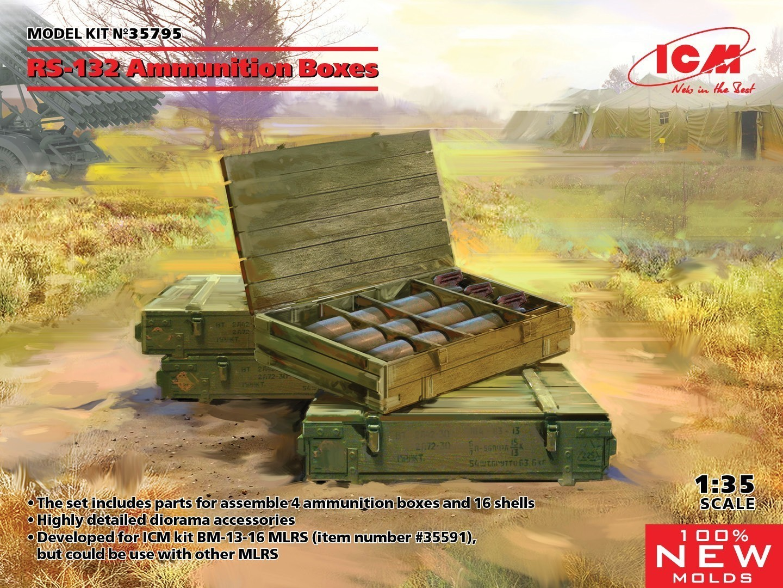 ICM 1/35 RS-132 Ammunition Boxes. 100% New Molds