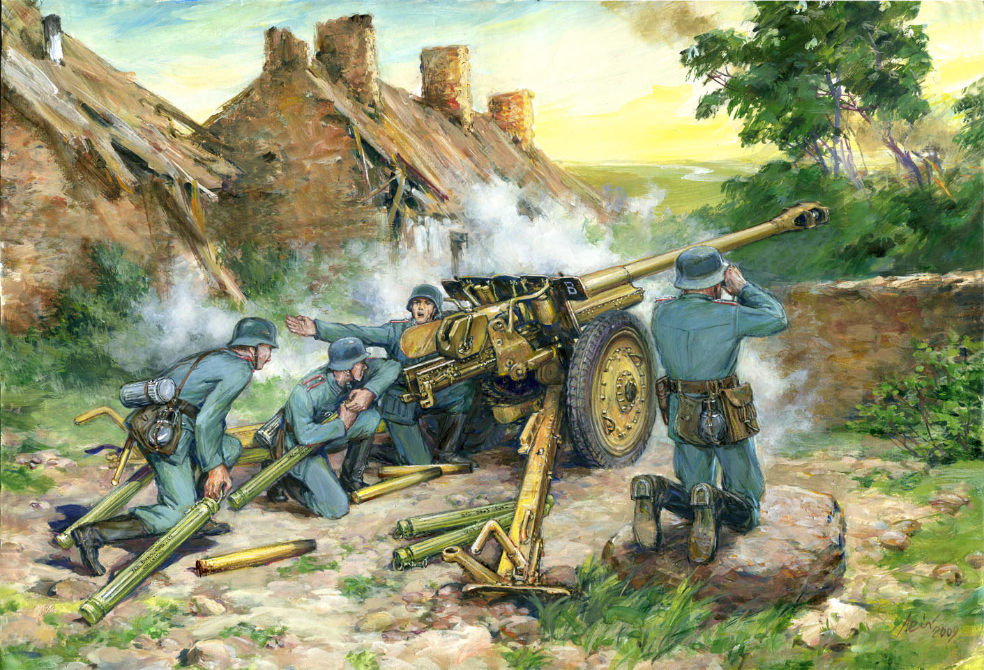 ICM 7,62 cm Pak 36(r) with German Crew (4 figures)