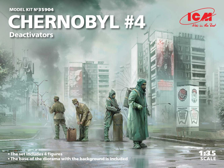 ICM 1/35 Chernobyl Series #4 - Deactivators (4 Figures)
