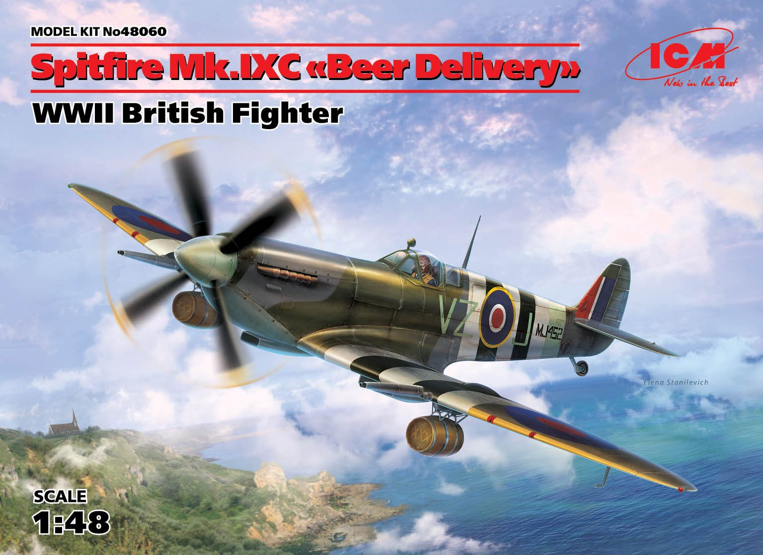 "ICM Spitfire Mk.IXC ""Beer Delivery"", WWII British Fighter"