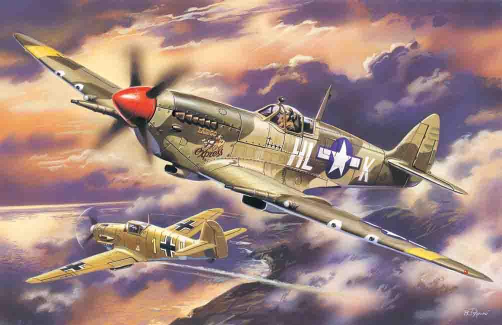 ICM Spitfire Mk.VIII, WWII USAAF Fighter