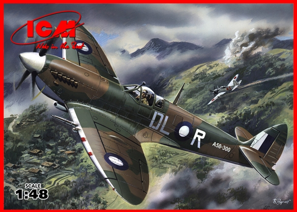 ICM Spitfire Mk.VIII, WWII British Fighter