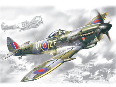 ICM Spitfire Mk.XVI, WWII British Fighter