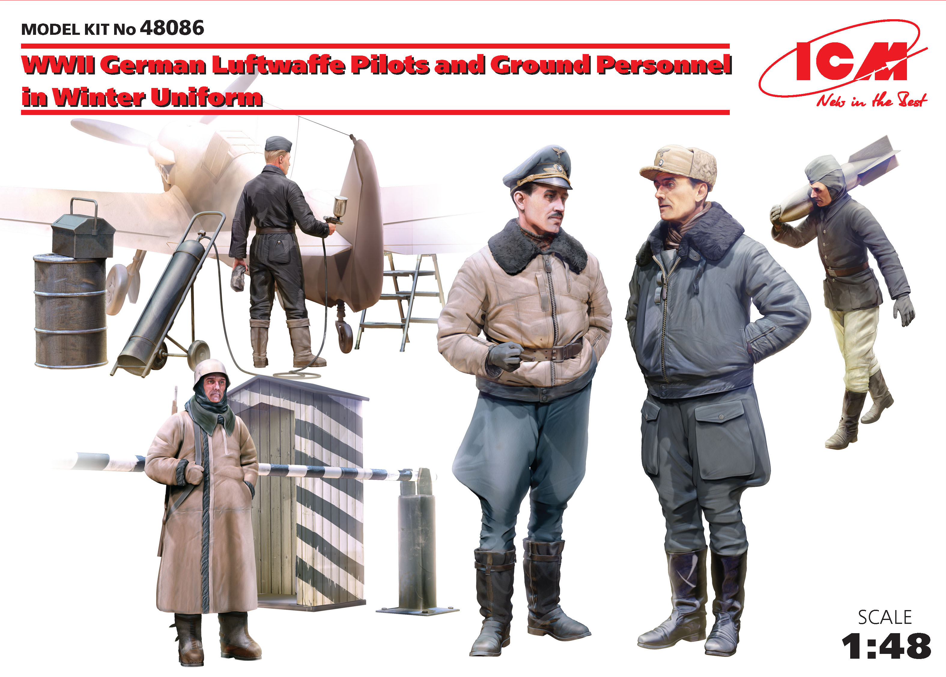 ICM WWII German Luftwaffe Pilots and Ground Personnel in Winter Uniform (5 figures)