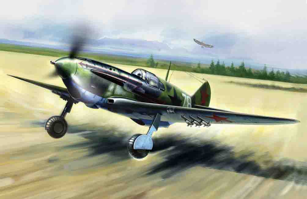ICM LaGG-3 series 7-11, WWII Soviet Fighter