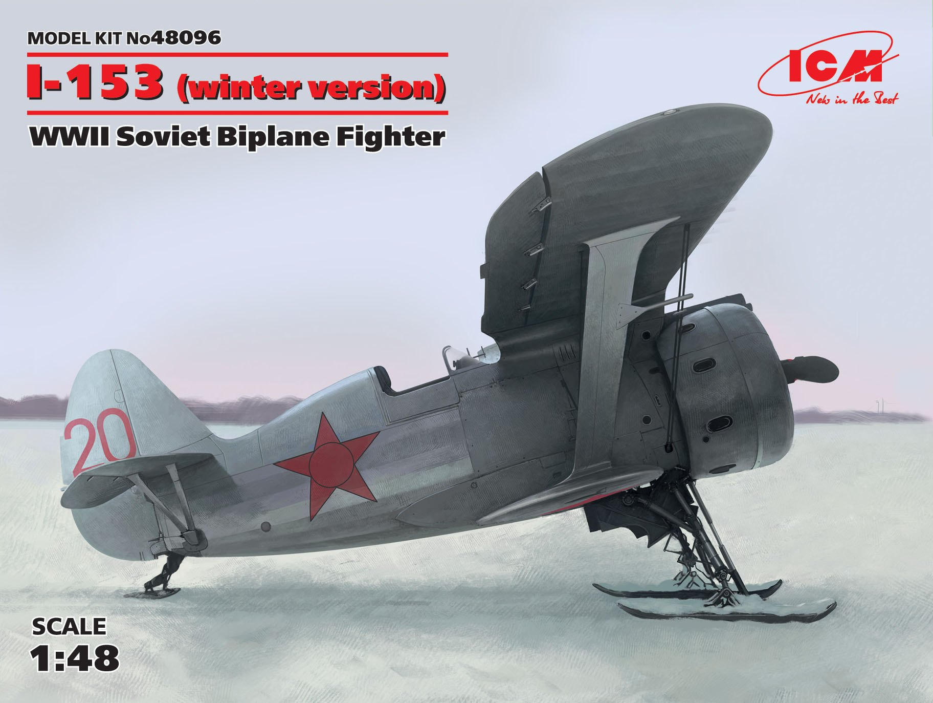ICM I-153, WWII Soviet Biplane Fighter (winter version)