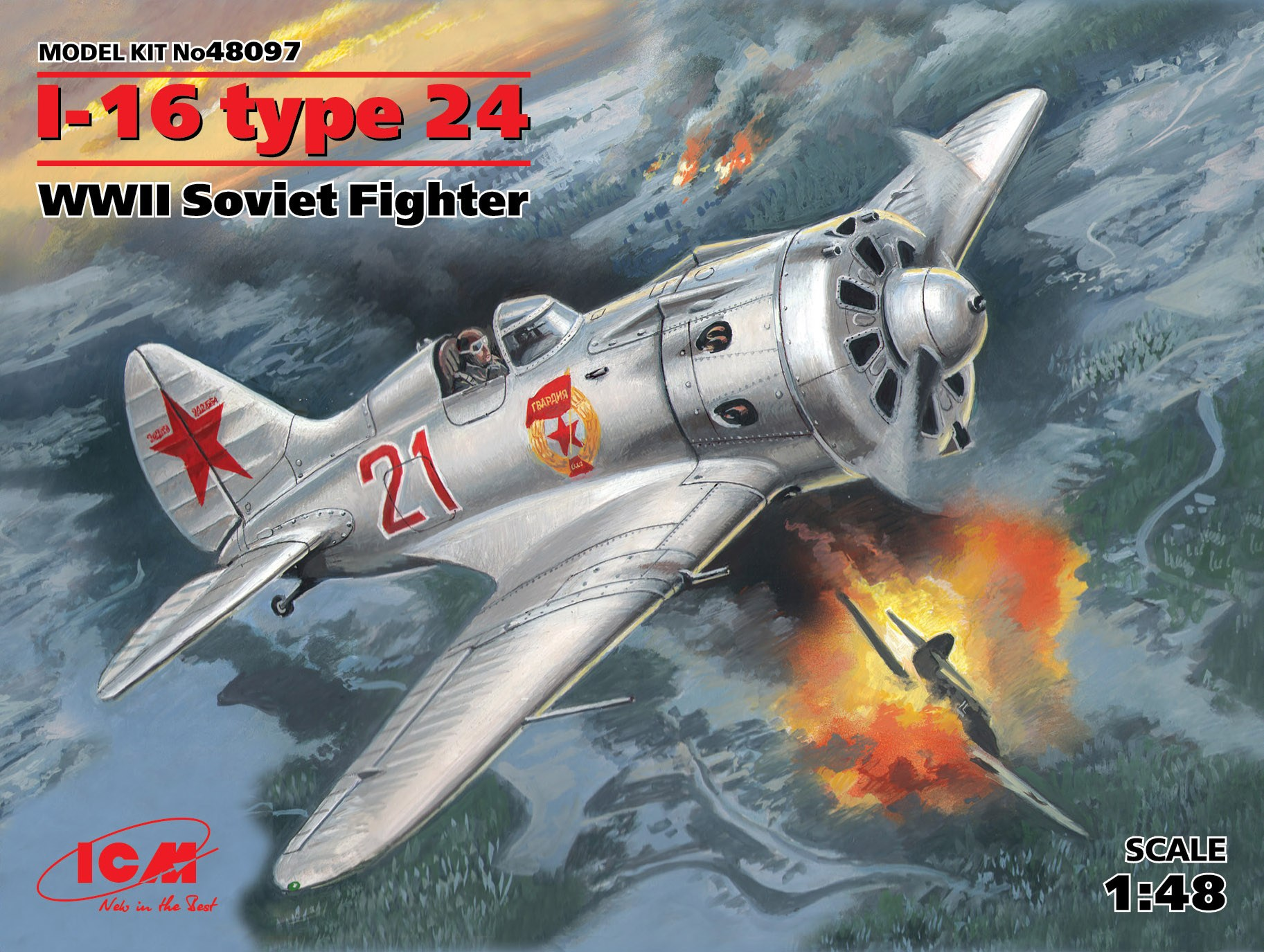 ICM I-16 type 24, WWII Soviet Fighter