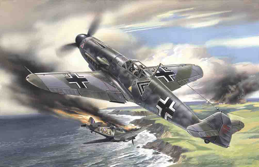 ICM Messerschmitt Bf 109F-2, WWII German Fighter