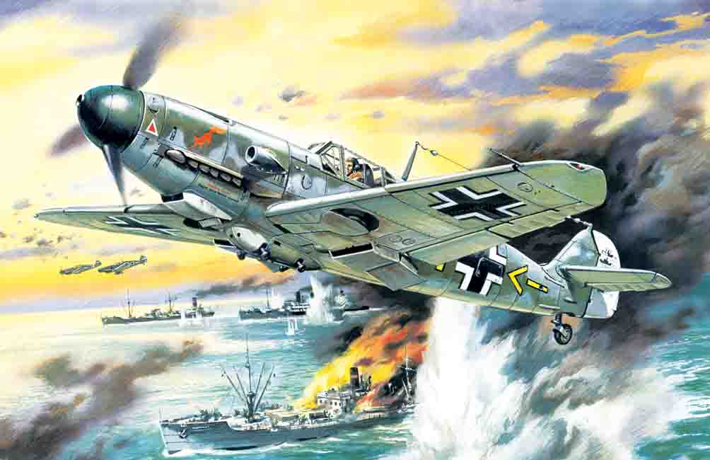 ICM Messerschmitt Bf 109F-4/B, WWII German Fighter-Bomber