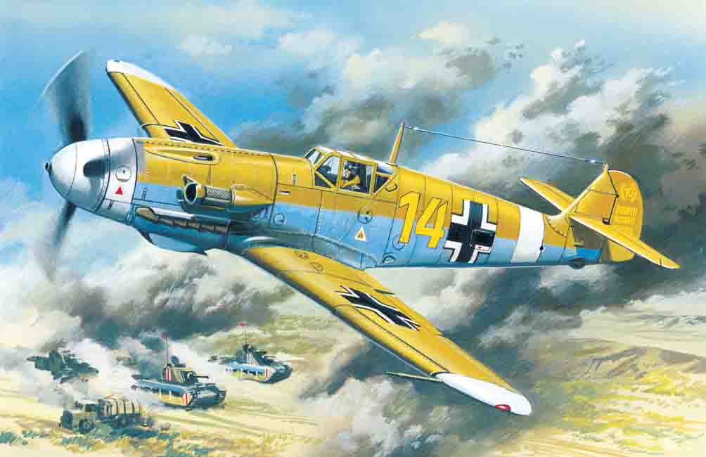 ICM Messerschmitt Bf 109F-4Z/Trop, WWII German Fighter