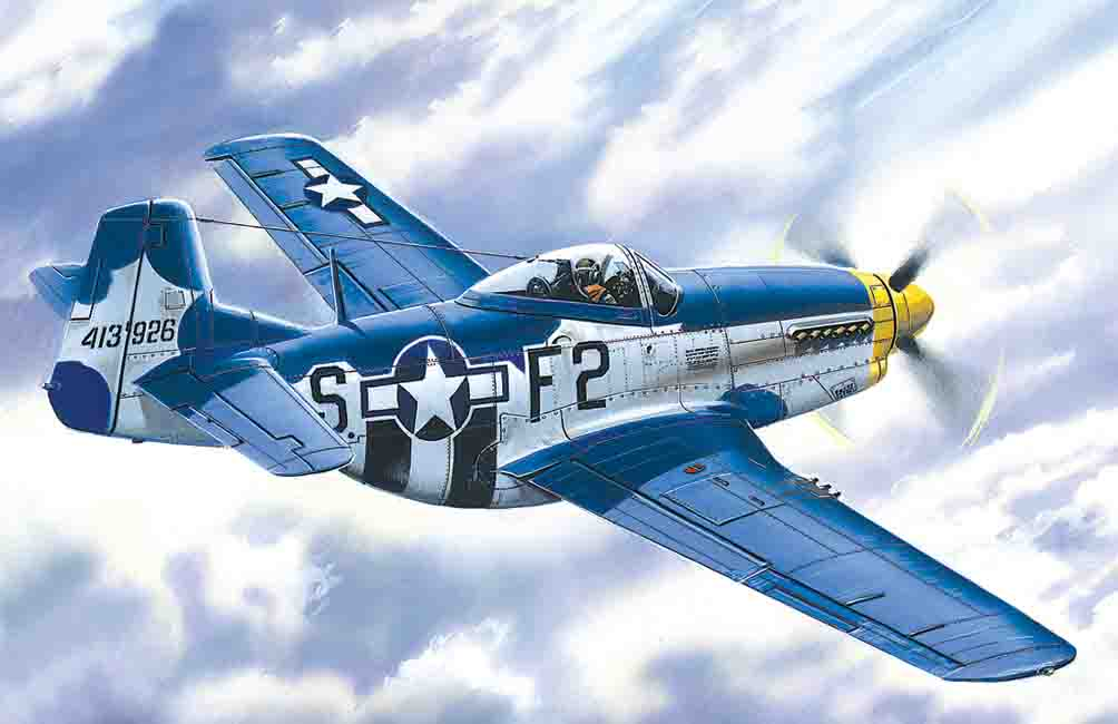ICM Mustang P-51D-15, WWII American Fighter