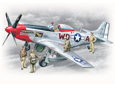 ICM Mustang P-51D with USAAF Pilots and Ground Personnel