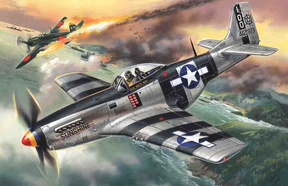 ICM Mustang P-51K, WWII American Fighter