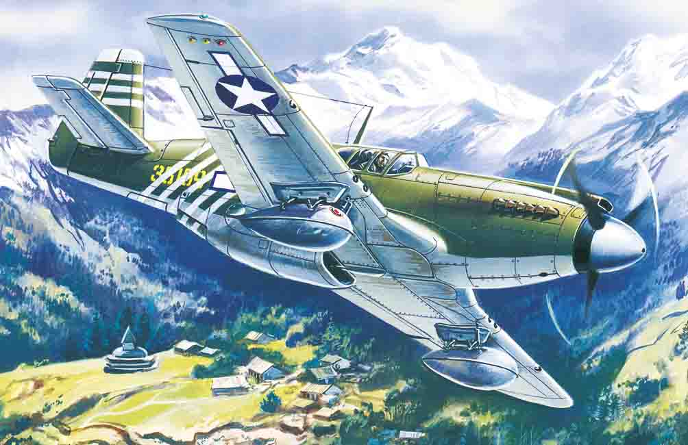 ICM 1/48 Mustang P-51A, WWII American Fighter