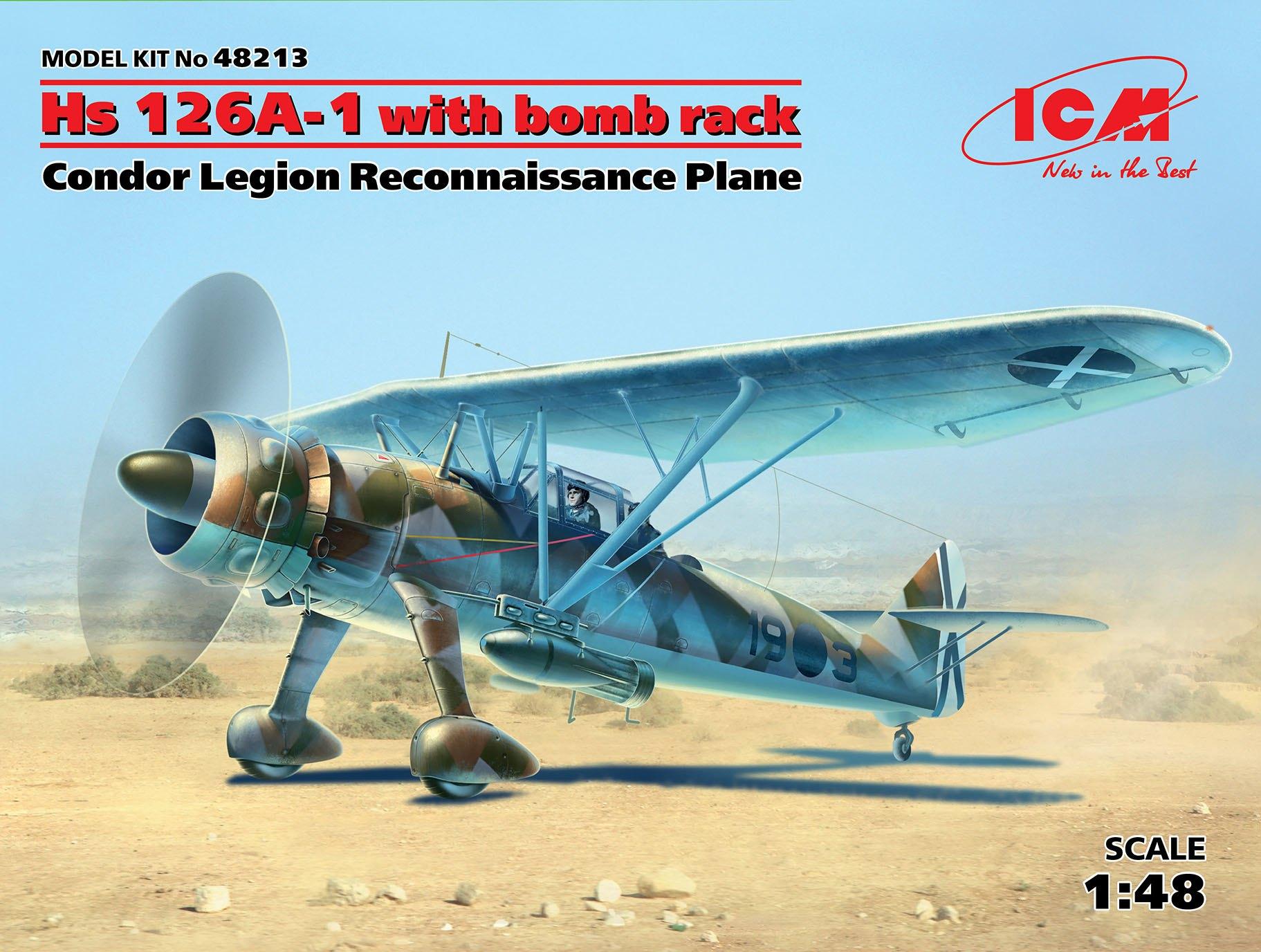 ICM Hs 126A-1 with bomb rack, Condor Legion Reconnaissance Plane