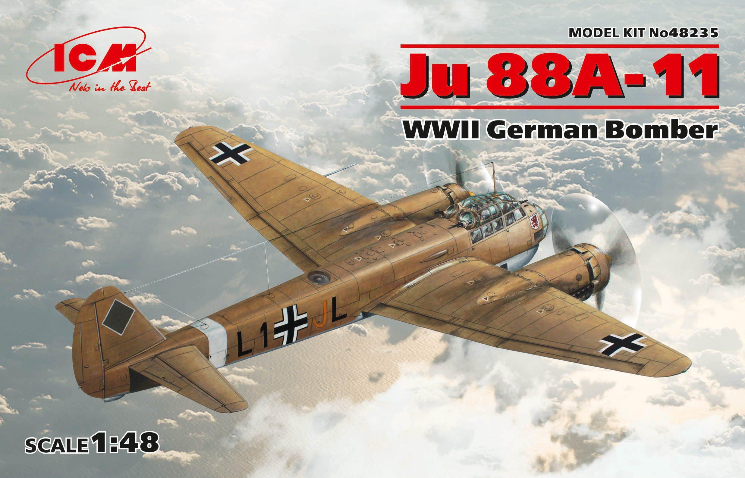 ICM Ju 88A-11, WWII German Bomber