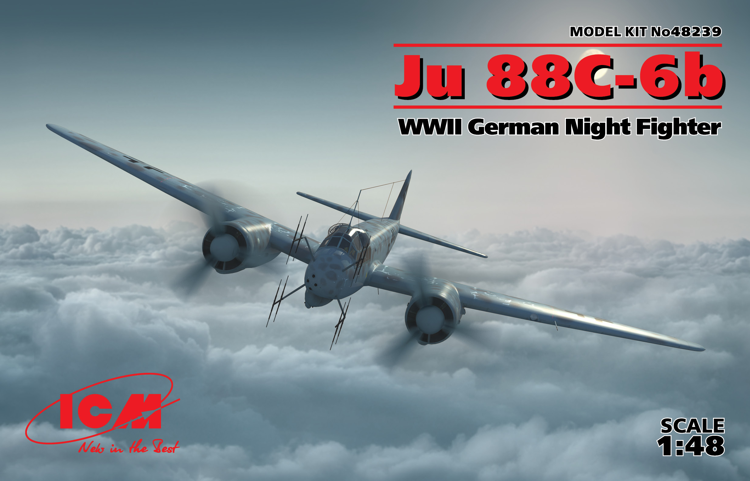 ICM Ju 88_-6b, WWII German Night Fighter