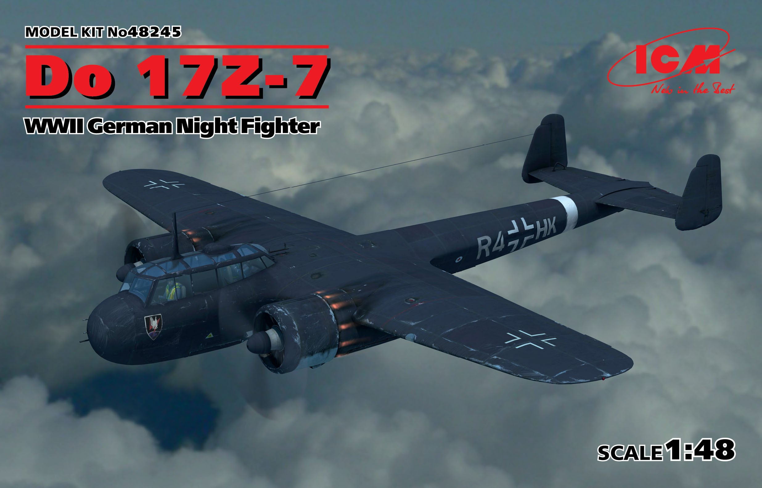 ICM Do 17Z-7, WWII German Night Fighter