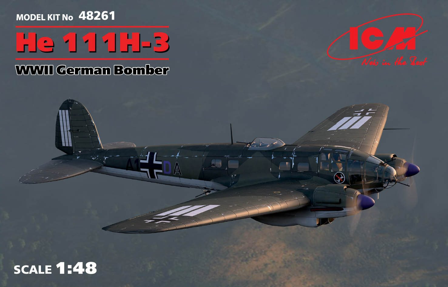 ICM 1/48 He 111H-3, WWII German Bomber