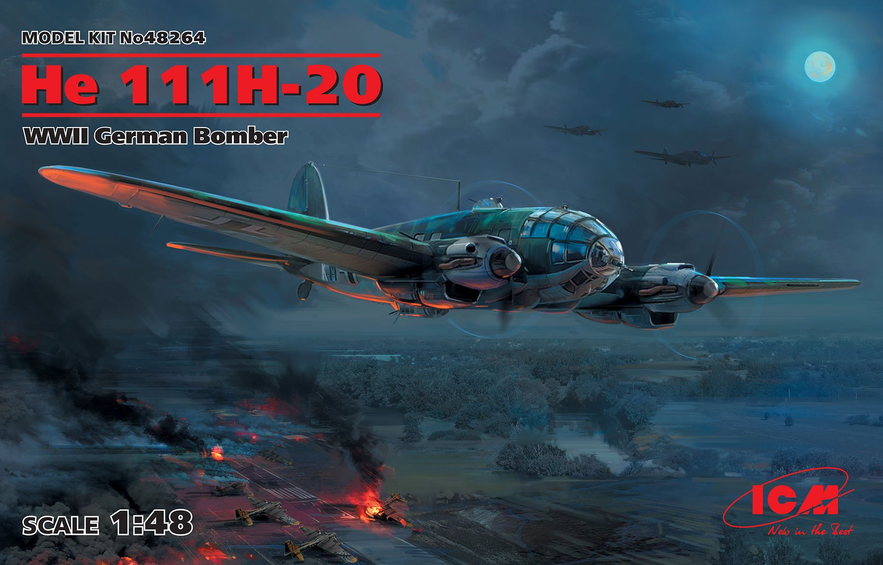 ICM He 111H-20, WWII German Bomber