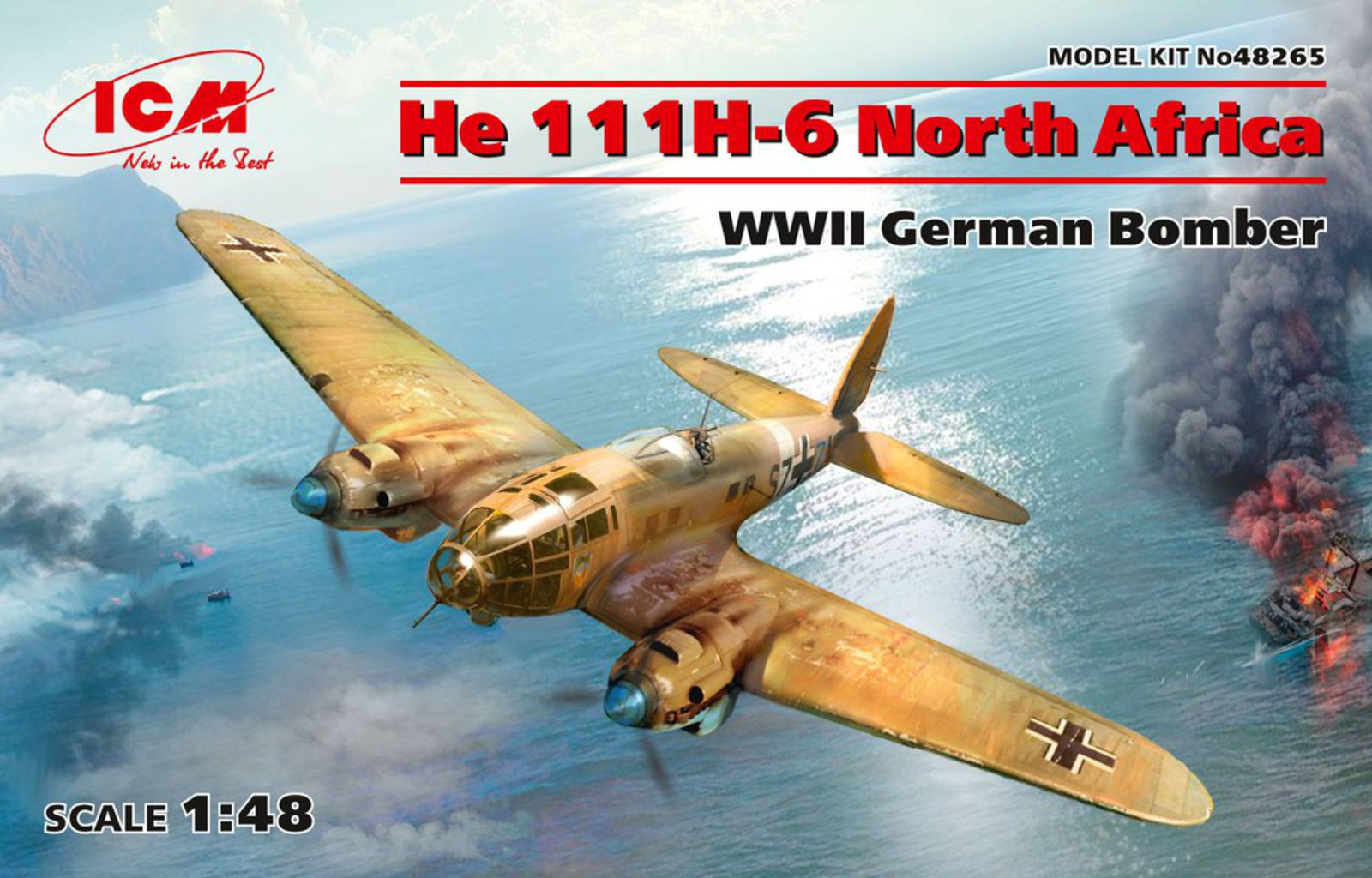 ICM He 111H-6 North Africa, WWII German Bomber