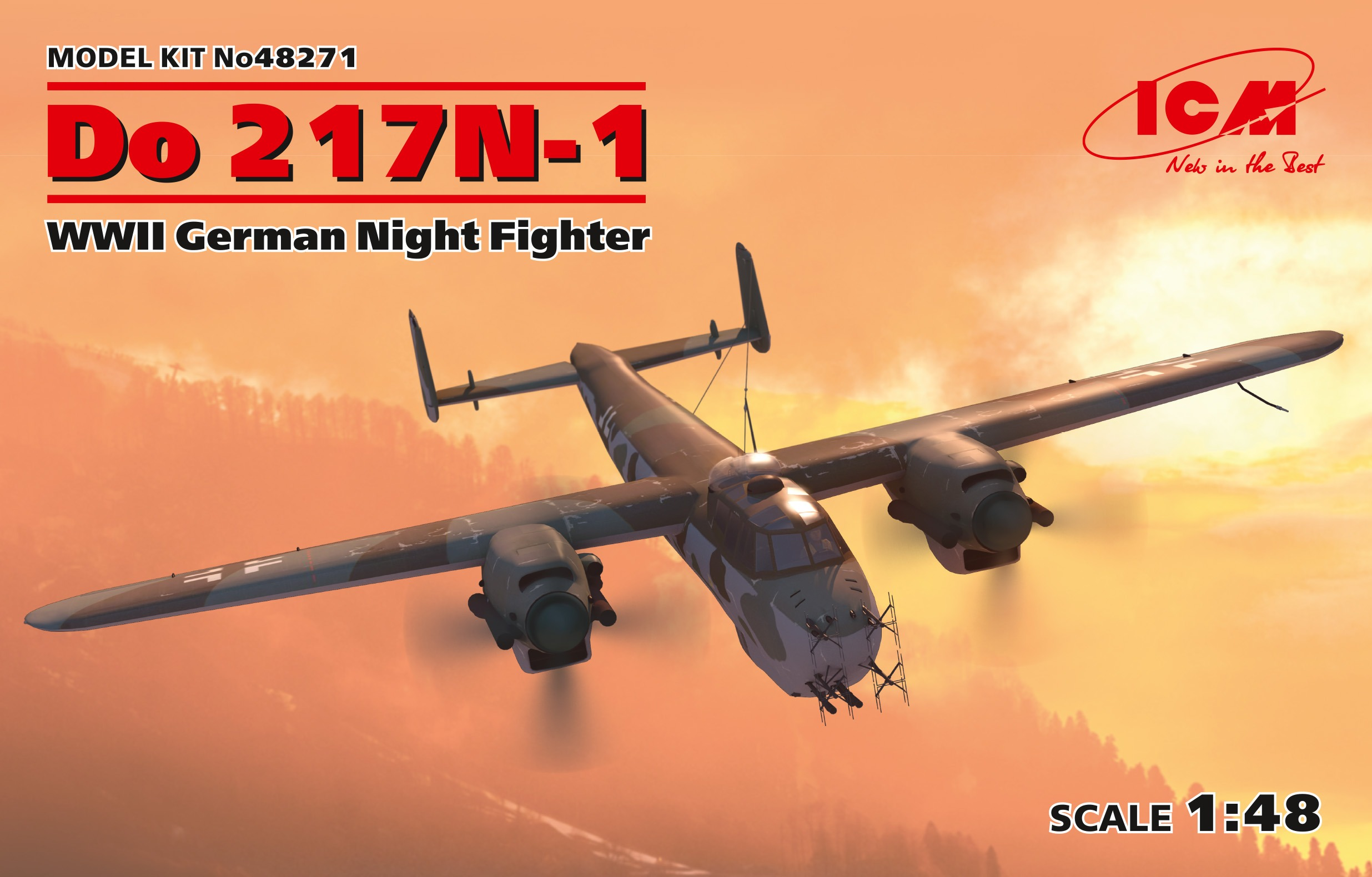 ICM Do 217N-1, WWII German Night Fighter (100% new molds)