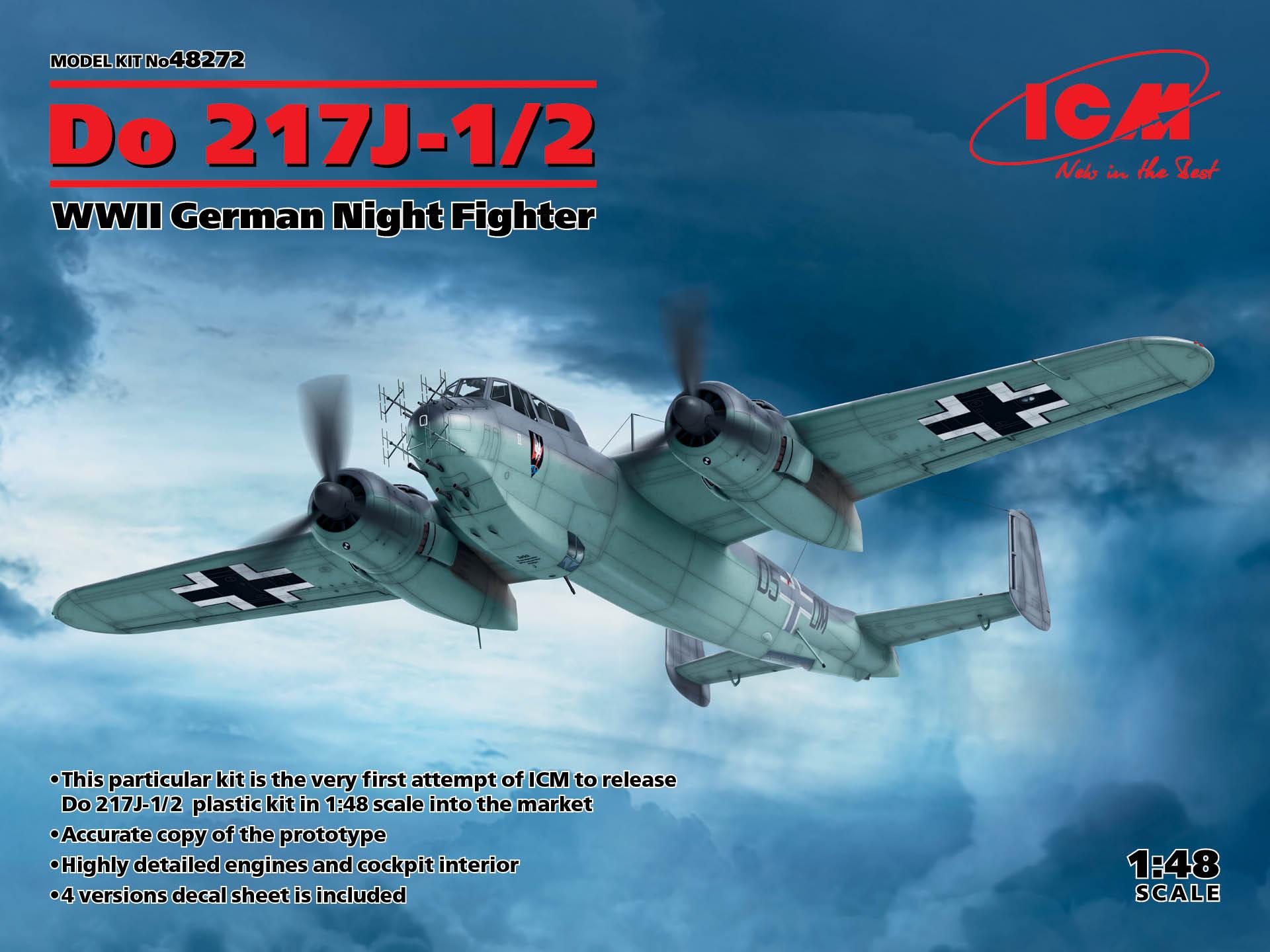 ICM 1/48 Do 217J-1/2, WWII German Night Fighter