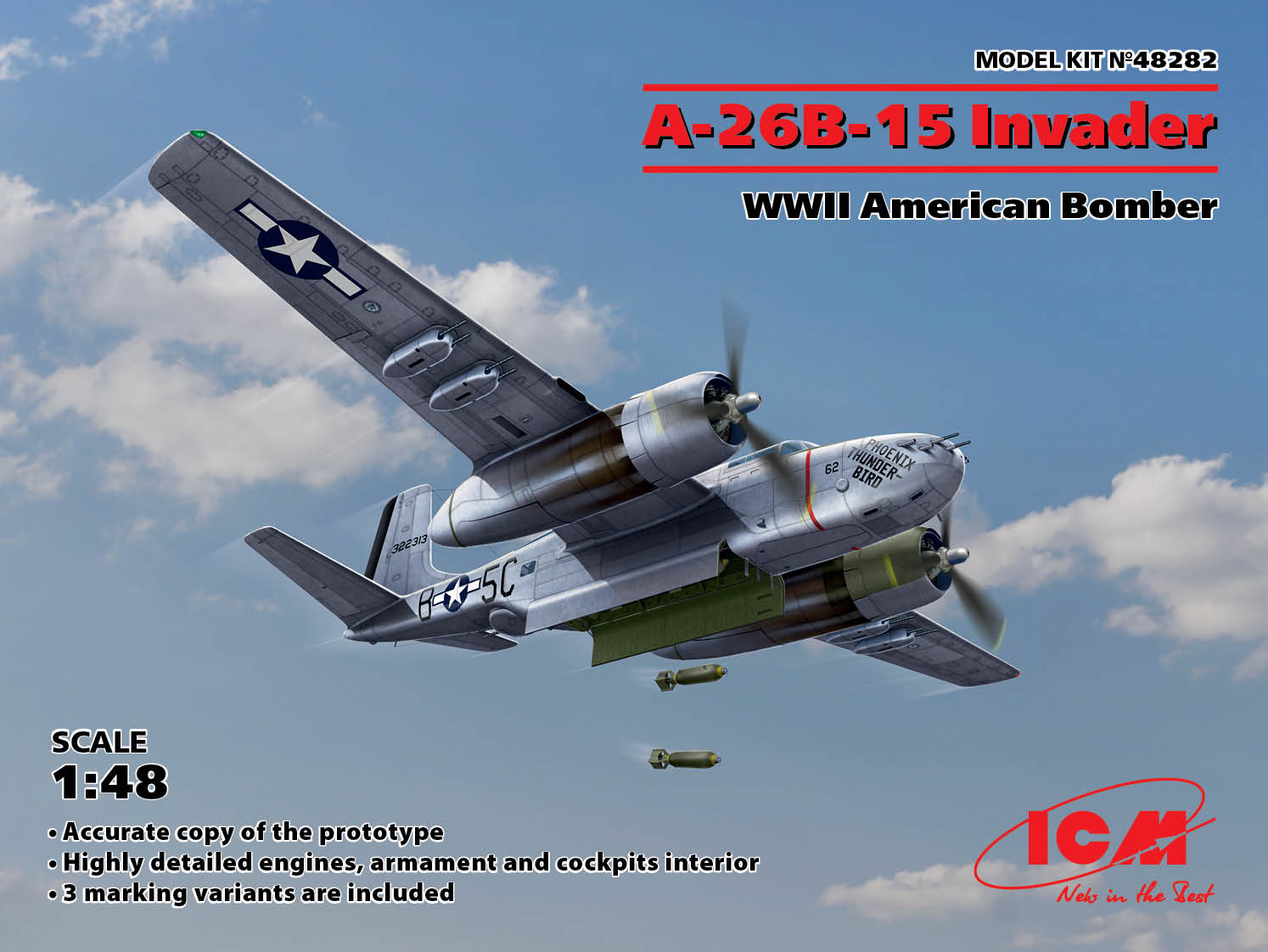 ICM A-26B-15 Invader, WWII American Bomber