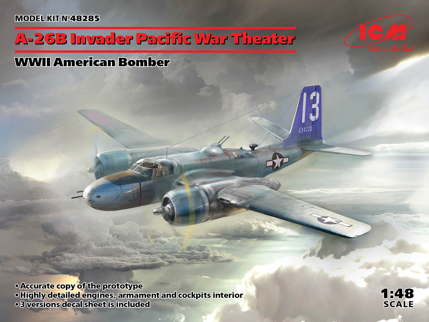 A-26B Invader Pacific War Theater, WWII American Bomber