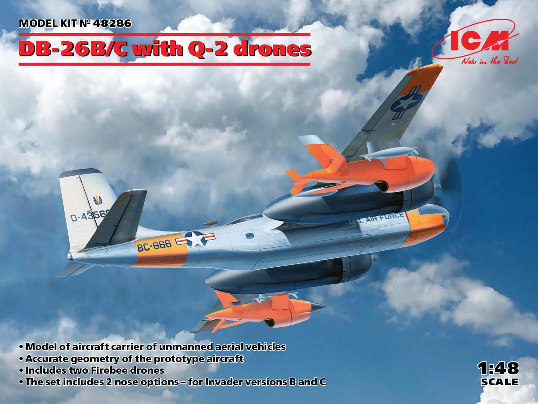 ICM 1/48 DB-26B/C with Q-2 drones