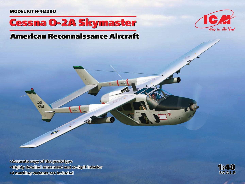 ICM 1/48 Cessna O-2A Skymaster, American Reconnaissance Aircraft, New Molds