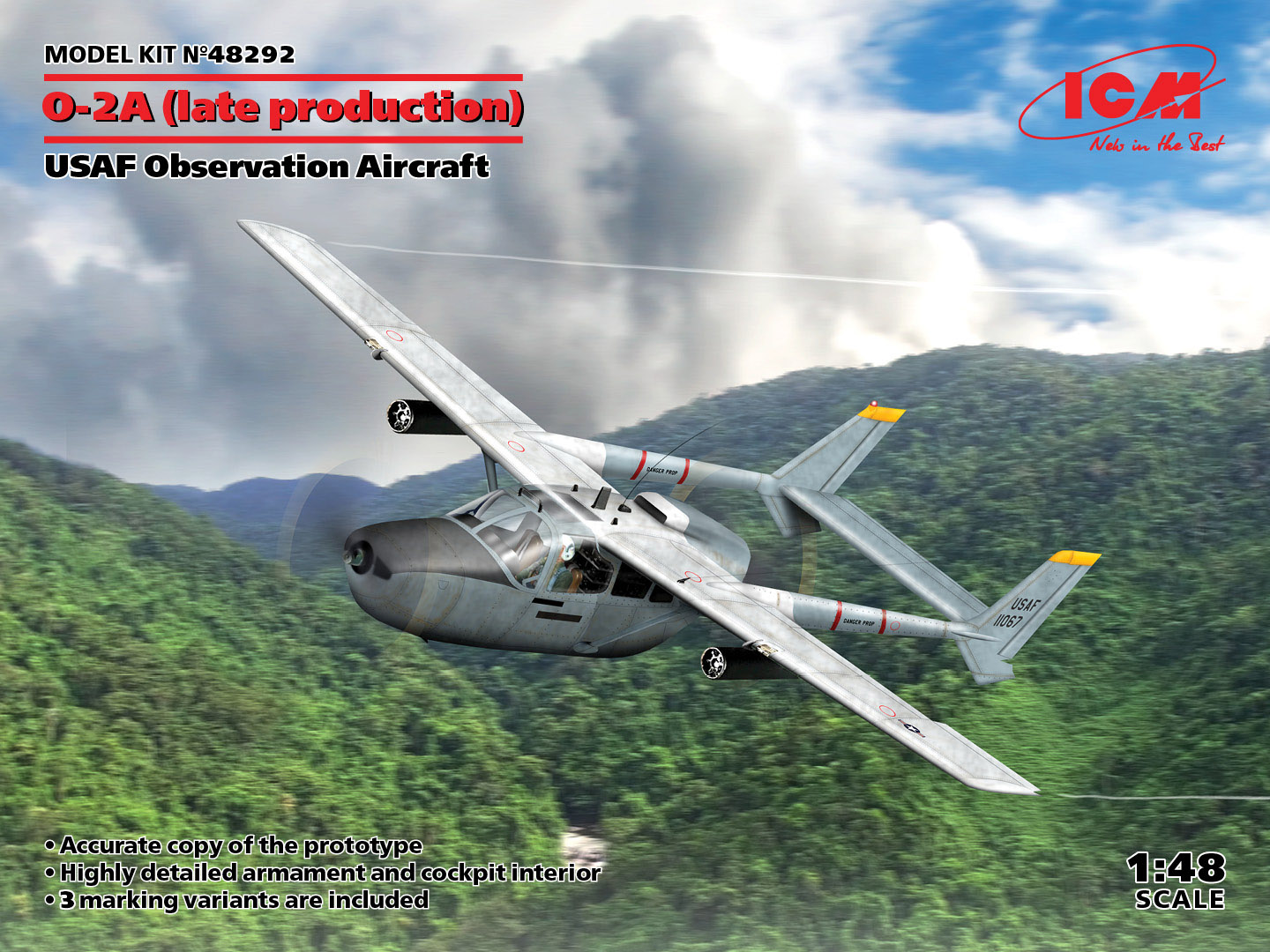 ICM 1/48 O-2A Late Production USAF Observation Aircraft