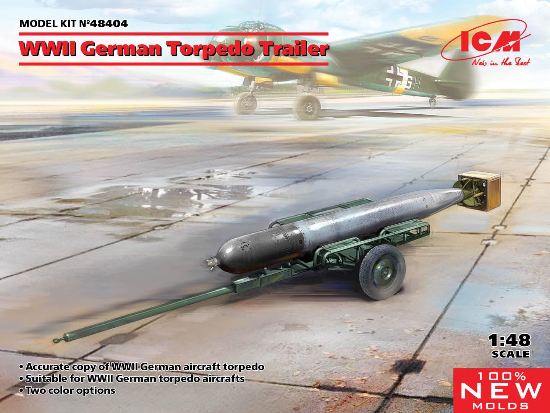 ICM 1/48 WWII German Torpedo Trailer (100% new molds)
