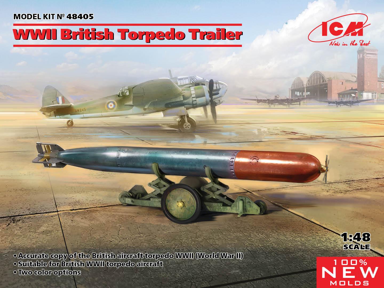 ICM 1/48 WWII British Torpedo Trailer (100% new molds)