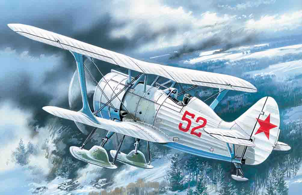 ICM I-15 bis, WWII Soviet Biplane Fighter (winter version)