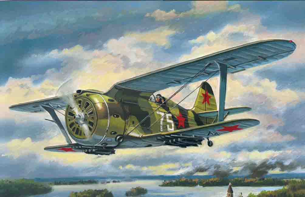 "ICM I-153 ""Chaika"", WWII Soviet Biplane Fighter"