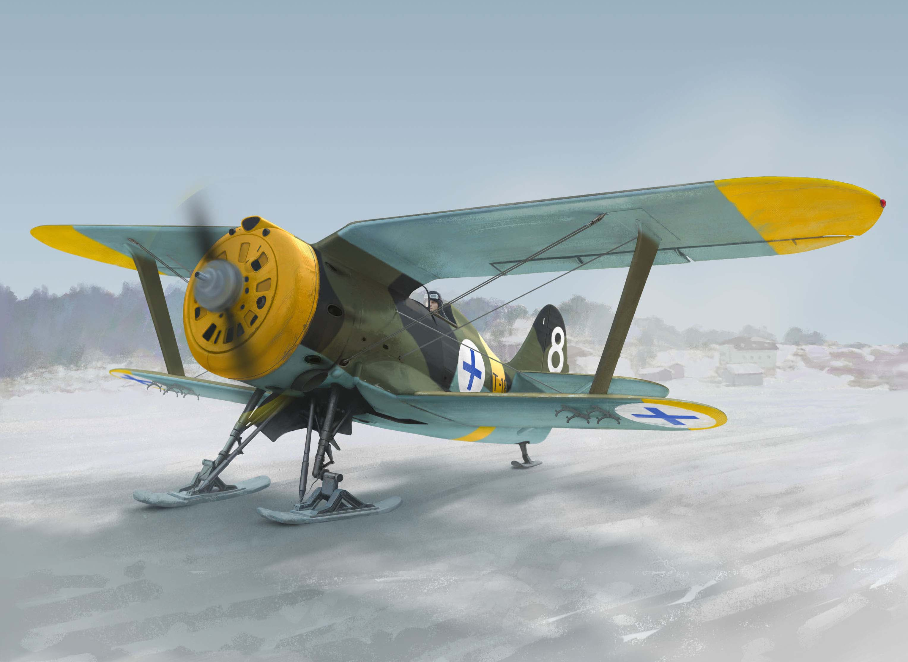 ICM I-153 , WWII Finnish Air Force Fighter (winter version)