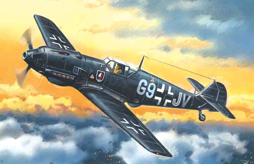 ICM Messerschmitt Bf 109E-4, WWII German Night Fighter