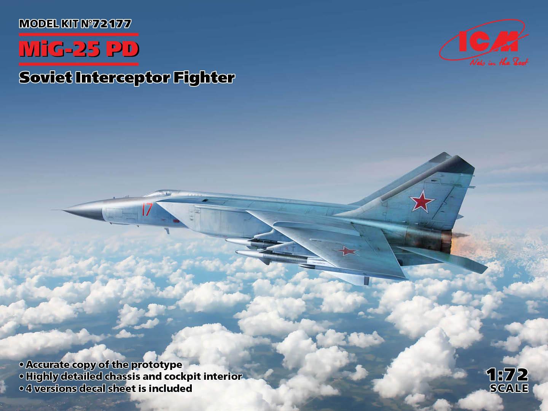 ICM 1/72 MiG-25PD - Soviet Interceptor Fighter