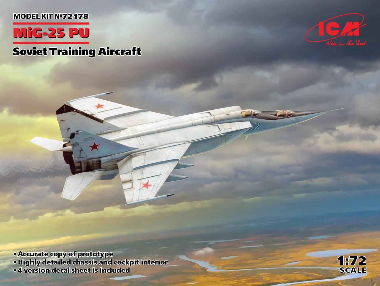 ICM 1/72 MiG-25PU, Soviet Training Aircraft