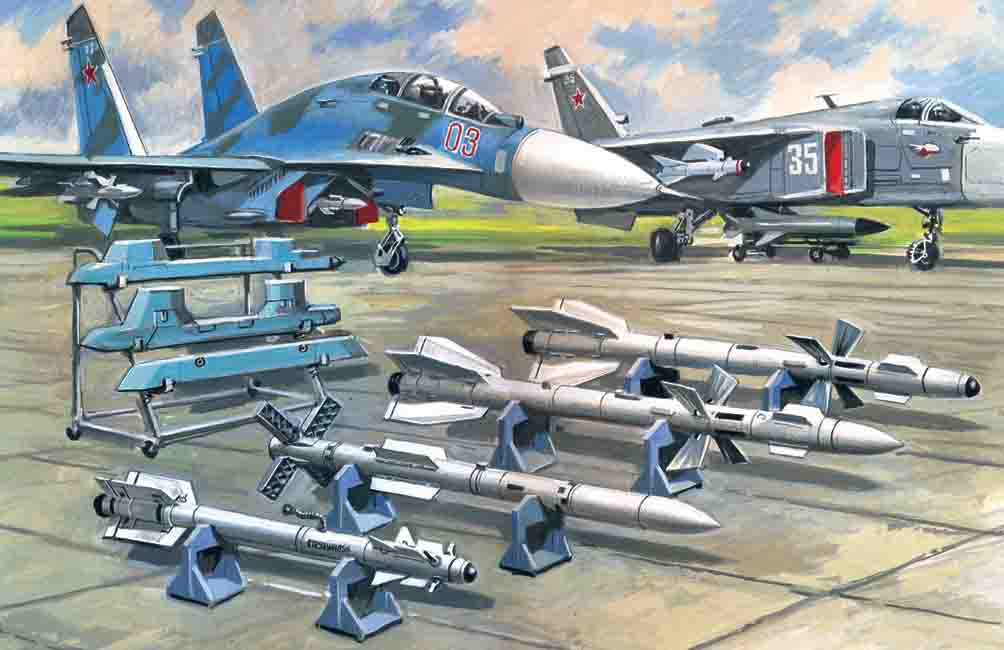 ICM Soviet Air-to-Air Aircraft Armament (R-27ER, R-27ET,  R-73, R-77 missiles)