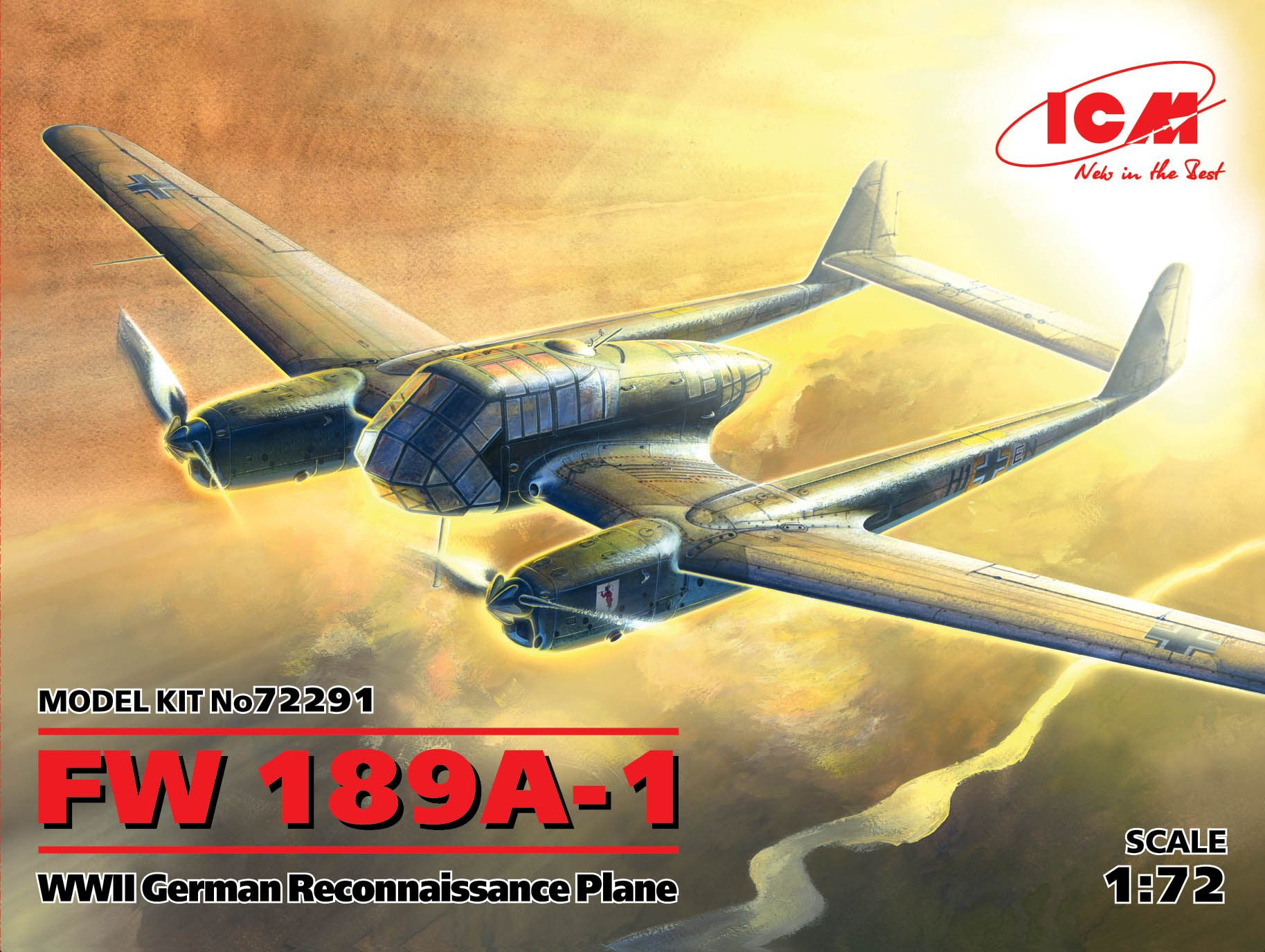 ICM FW 189A-1, WWII German Reconnaissance Plane