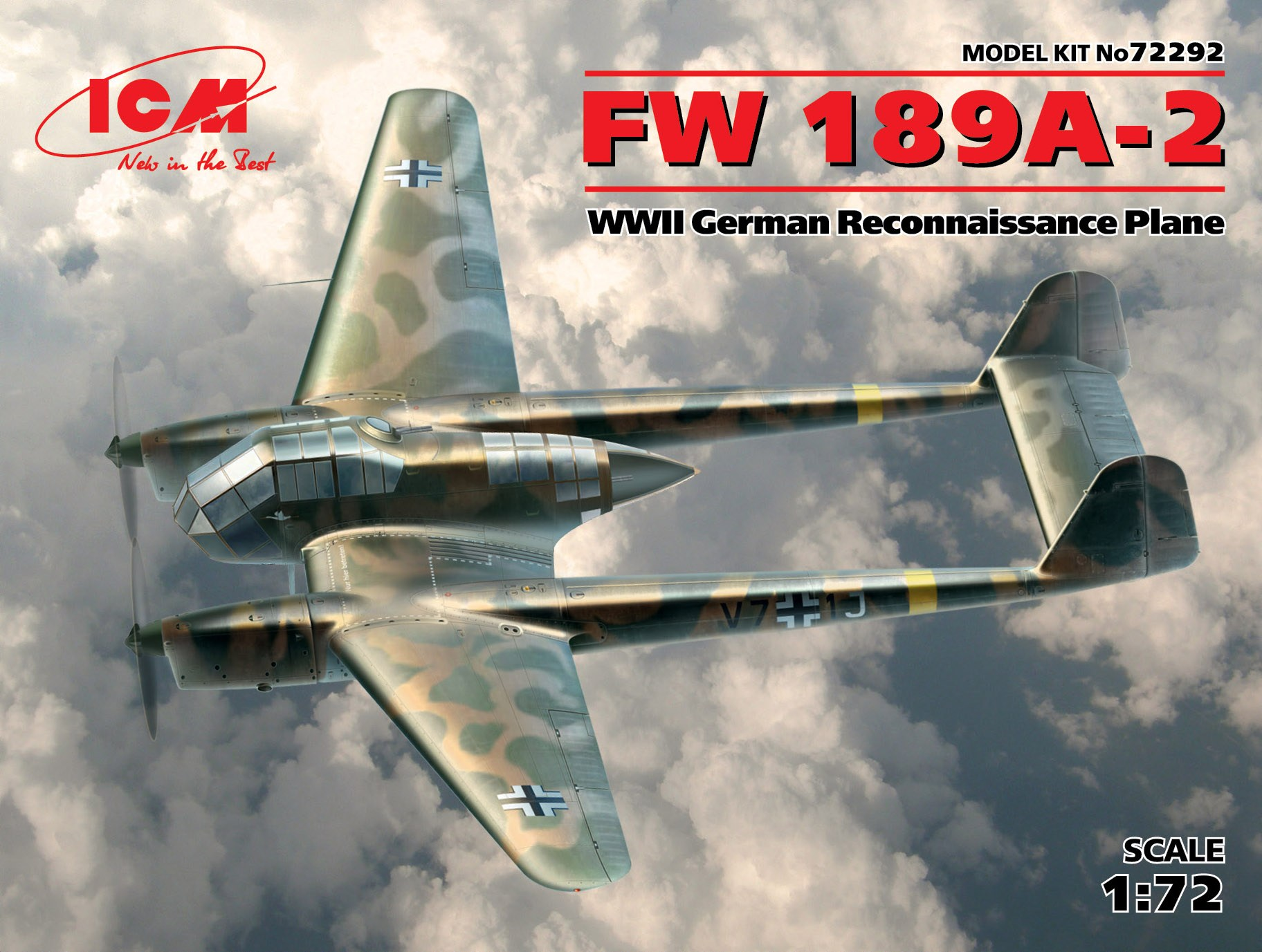 ICM FW 189A-2, WWII German Reconnaissance Plane