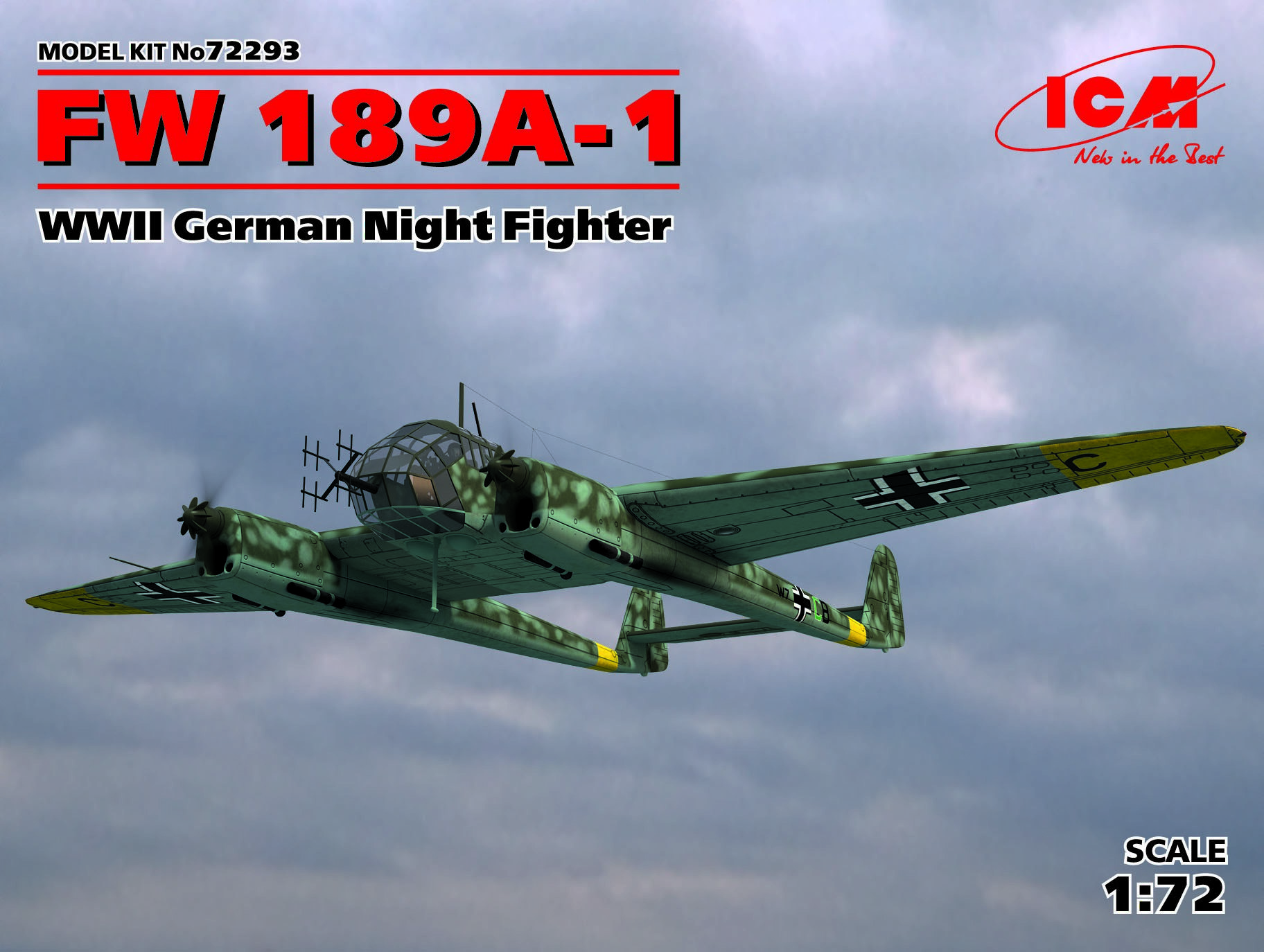 ICM FW 189A-1, WWII German Night Fighter