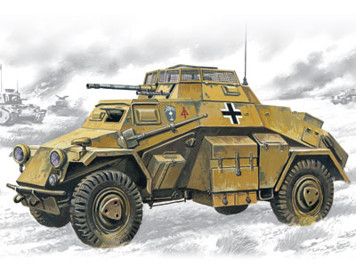ICM Sd.Kfz.222, German Light Armoured Vehicle