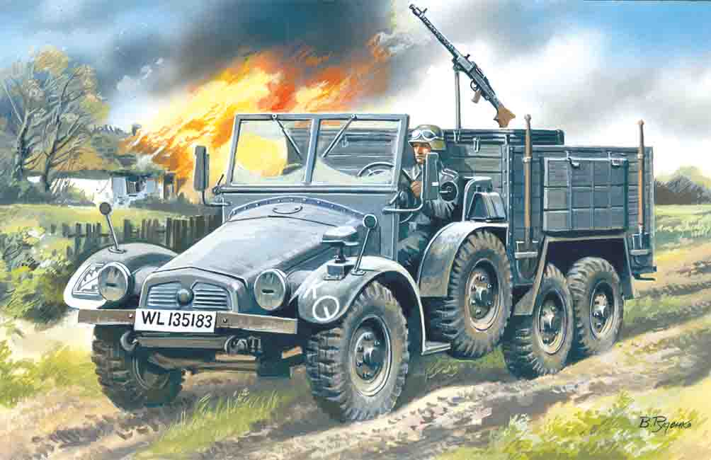 ICM Krupp L2H143 Kfz.70, German Light Army Truck