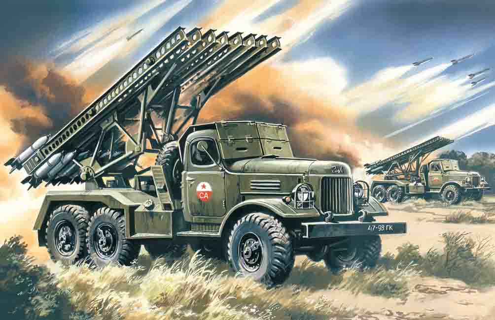 "ICM BM-13-16 ""Katiusha"", Mult. Launch Rocket System on ZiL-157 base"