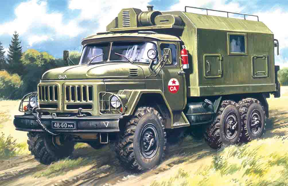 ICM 1/72  ZiL-131, Command Vehicle