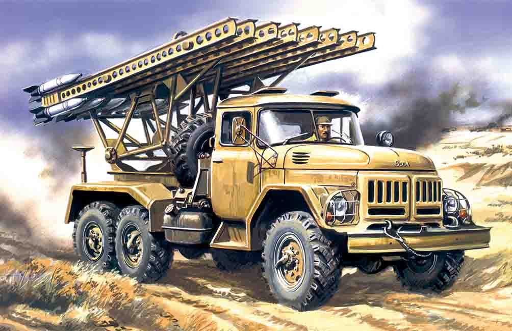 ICM BM-13-16,  Multiple Launch Rocket System on ZiL-131 base