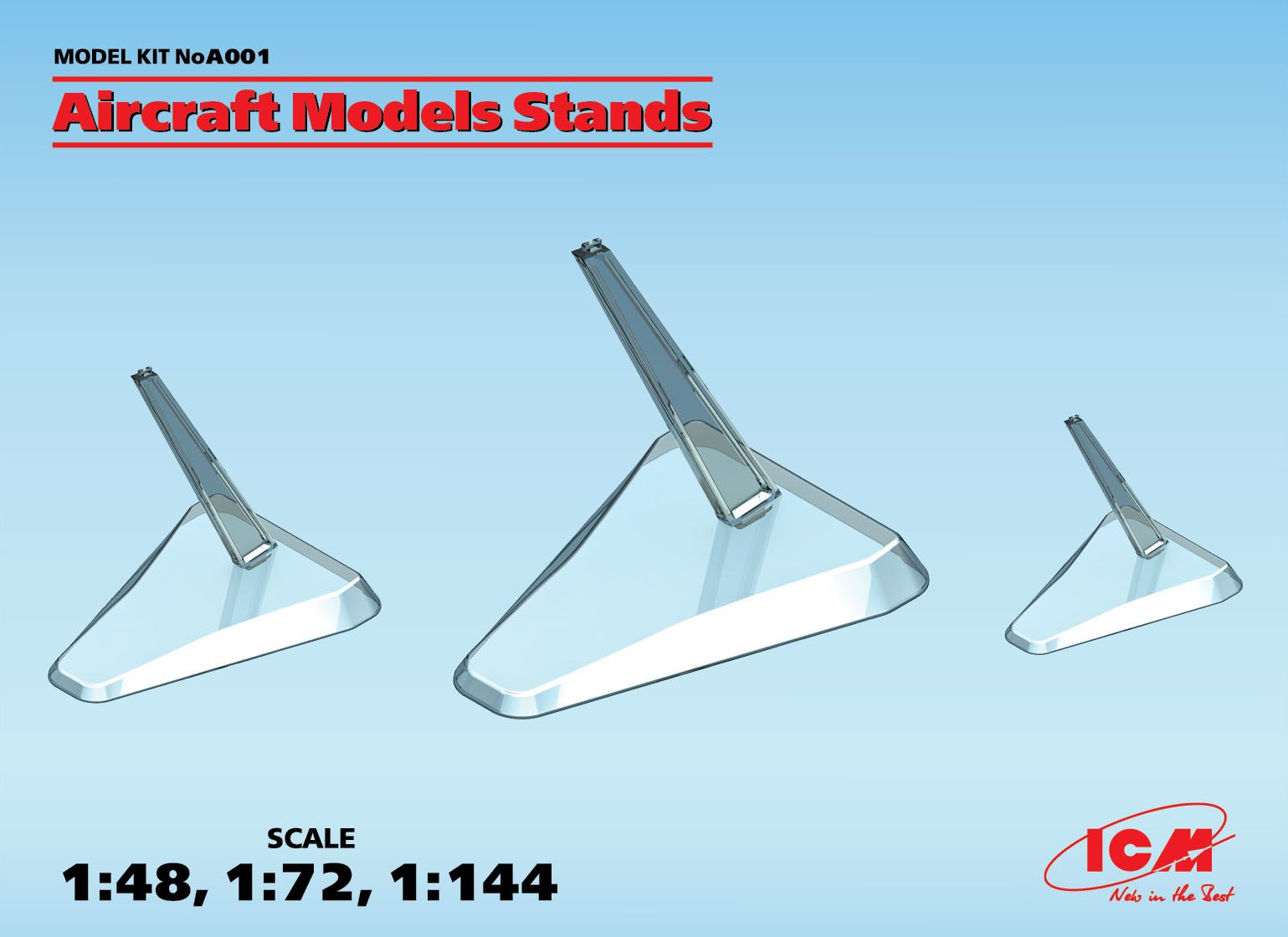 ICM Aircraft Models Stands (1:48, 1:72, 1:144)